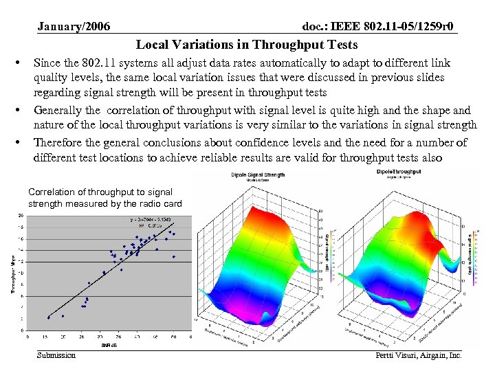 January/2006 doc. : IEEE 802. 11 -05/1259 r 0 Local Variations in Throughput Tests