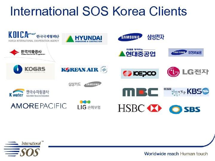 International SOS Korea Clients