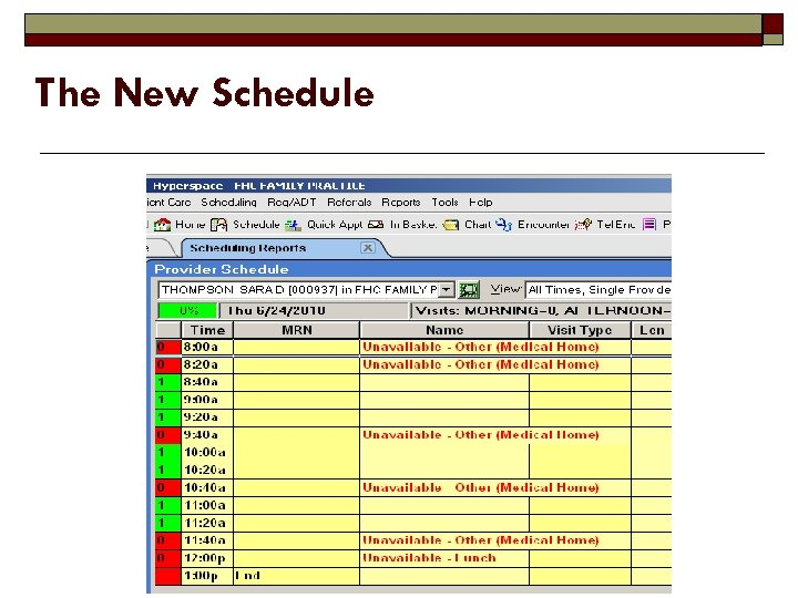 The New Schedule