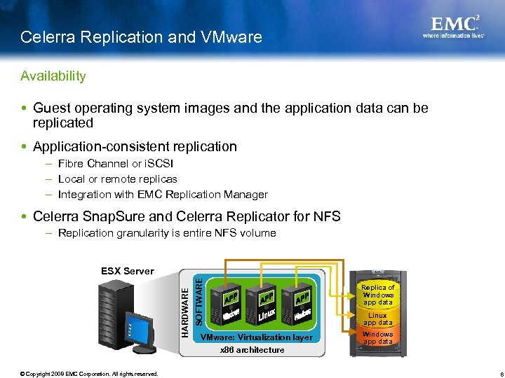 Celerra Replication and VMware Availability Guest operating system images and the application data can