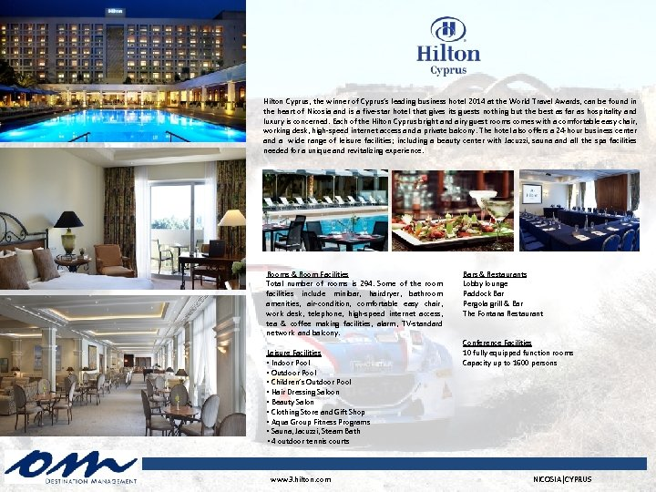 Hilton Cyprus, the winner of Cyprus's leading business hotel 2014 at the World Travel