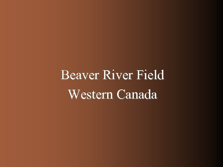 Beaver River Field Western Canada