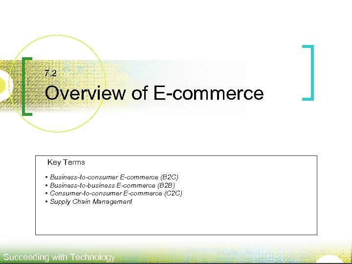 7. 2 Overview of E-commerce Key Terms • Business-to-consumer E-commerce (B 2 C) •
