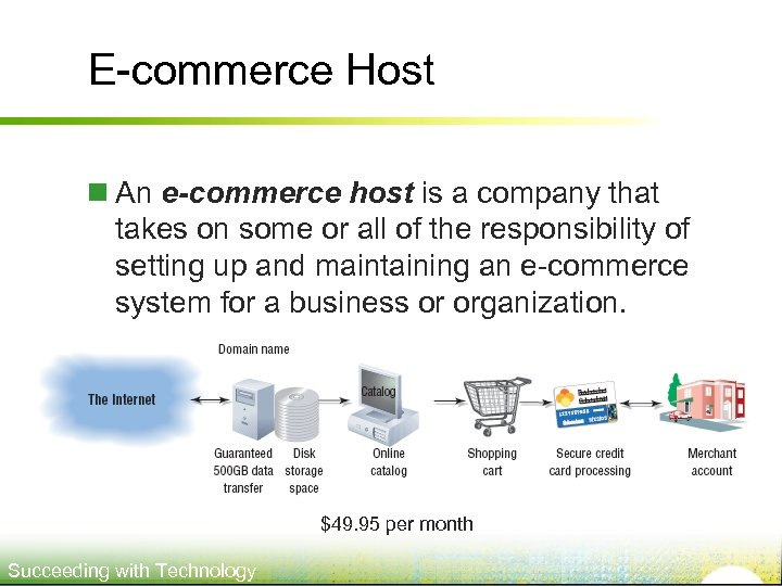 E-commerce Host n An e-commerce host is a company that takes on some or