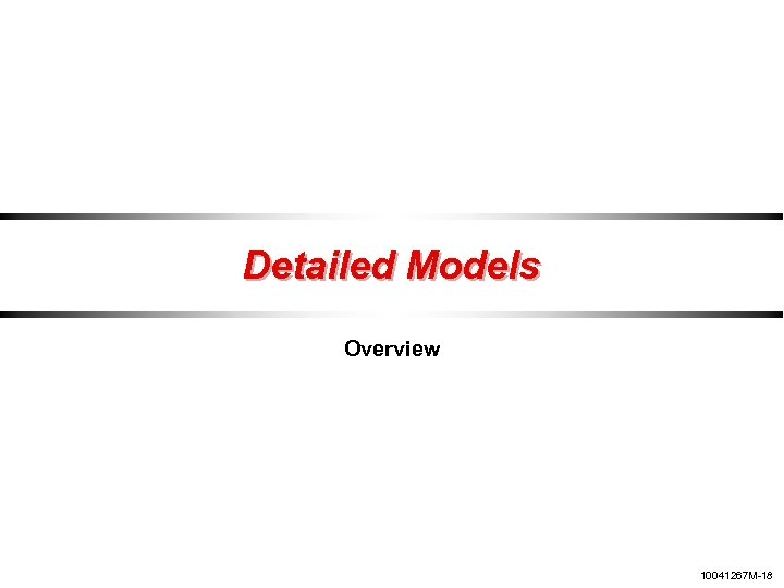 Detailed Models Overview 10041267 M-18