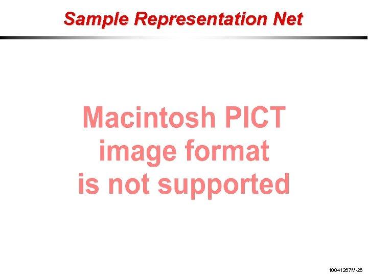 Sample Representation Net 10041267 M-26