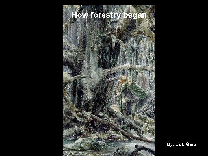 How Forestry Began began How forestry By: Bob Gara