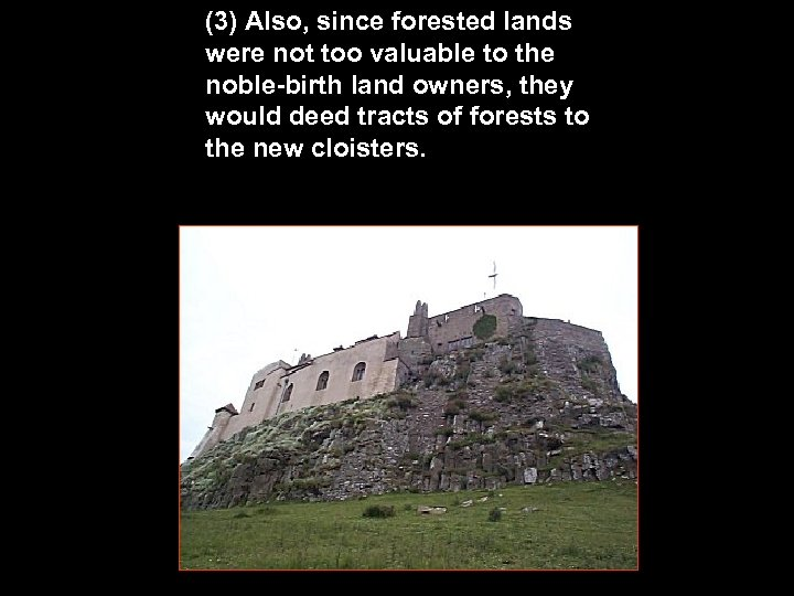 (3) Also, since forested lands were not too valuable to the noble-birth land owners,