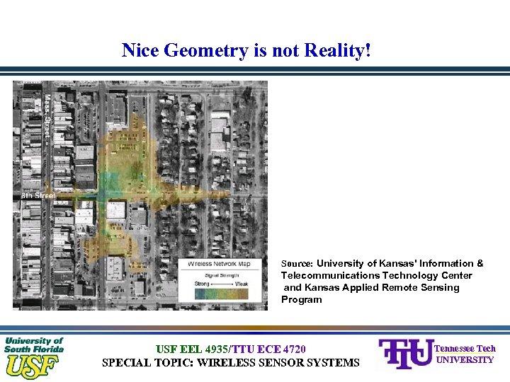 Nice Geometry is not Reality! Source: University of Kansas' Information & Telecommunications Technology Center