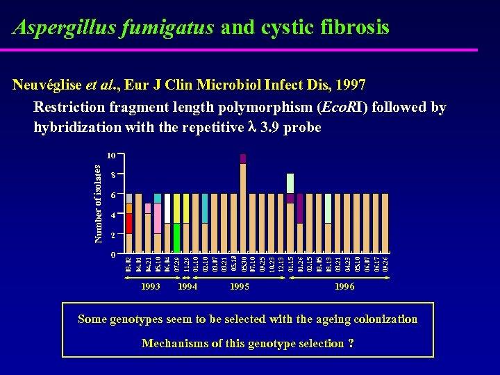 Aspergillus fumigatus and cystic fibrosis Neuvéglise et al. , Eur J Clin Microbiol Infect