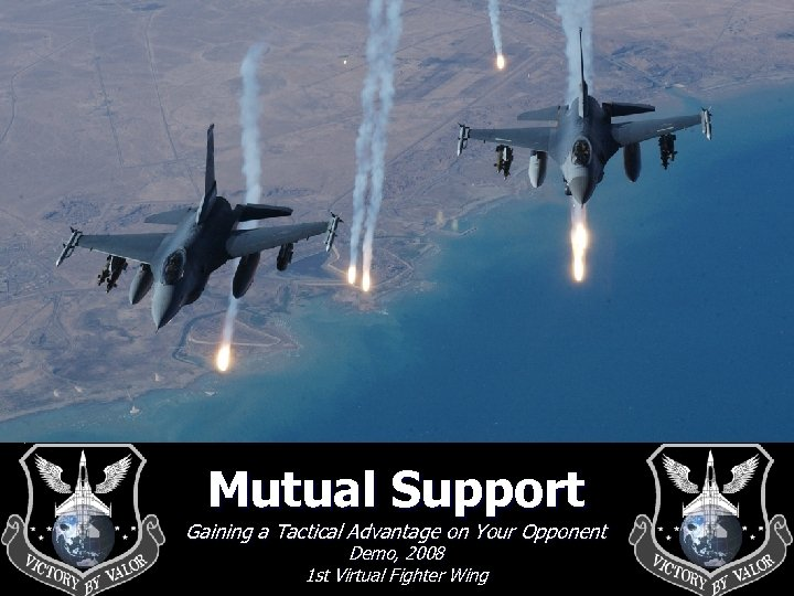 Mutual Support Gaining a Tactical Advantage on Your Opponent Demo, 2008 1 st Virtual