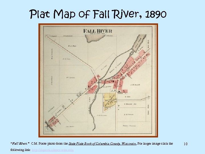 "Plat Map of Fall River, 1890 ""Fall River. "" C. M. Foote photo from"