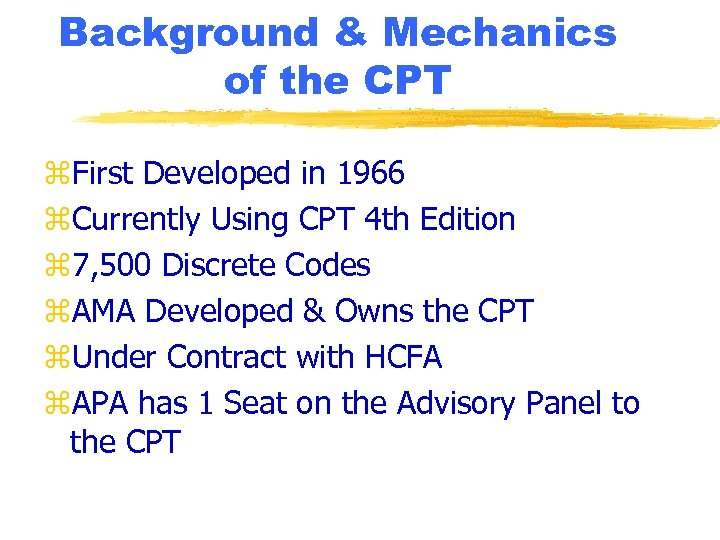 Background & Mechanics of the CPT z. First Developed in 1966 z. Currently Using