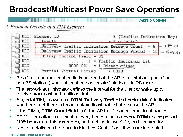 Broadcast/Multicast Power Save Operations • • • Broadcast and multicast traffic is buffered at
