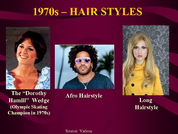 """1970 s – HAIR STYLES The """"Dorothy Hamill"""" Wedge Afro Hairstyle (Olympic Skating Champion"""