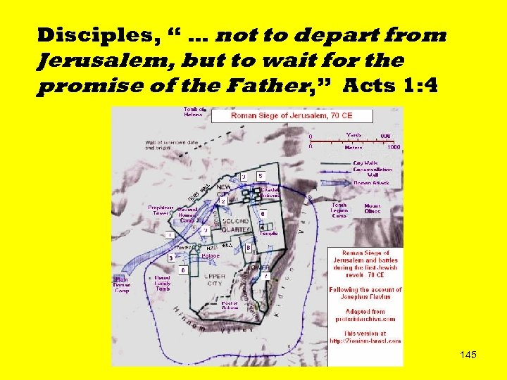 """Disciples, """" … not to depart from Jerusalem, but to wait for the promise"""