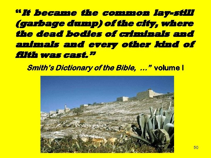 """""""It became the common lay-still (garbage dump) of the city, where the dead bodies"""