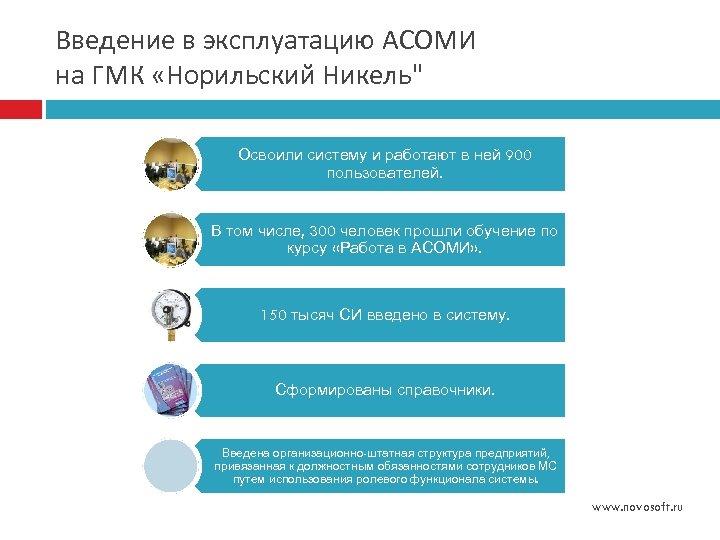 Введение в эксплуатацию АСОМИ на ГМК «Норильский Никель
