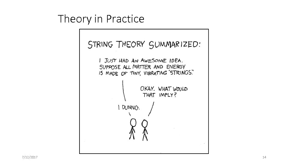 Theory in Practice 7/12/2017 14