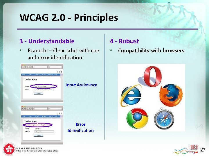 WCAG 2. 0 - Principles 3 - Understandable • Example – Clear label with