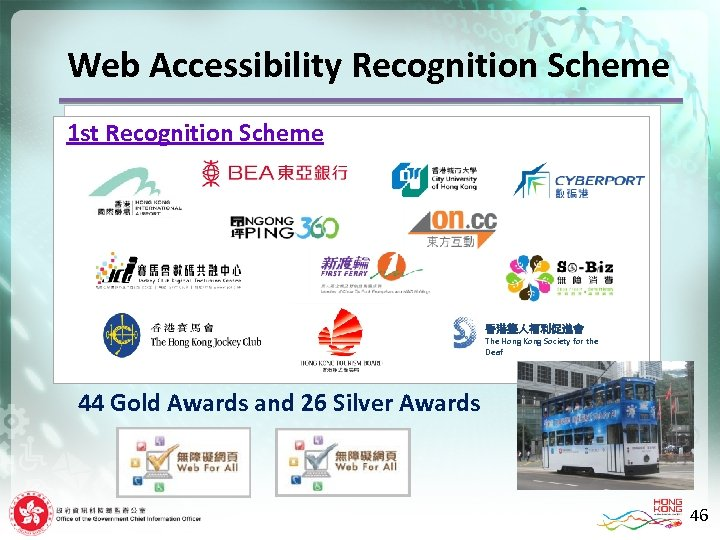 Web Accessibility Recognition Scheme 1 st Recognition Scheme 香港聾人福利促進會 The Hong Kong Society for