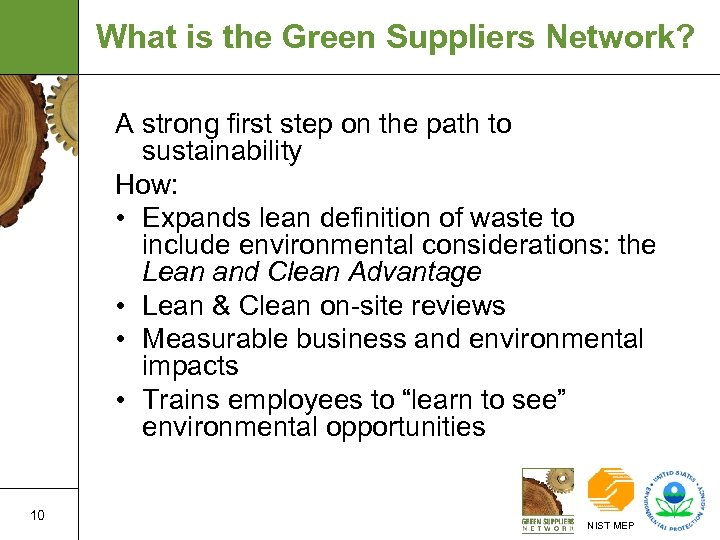 What is the Green Suppliers Network? A strong first step on the path to
