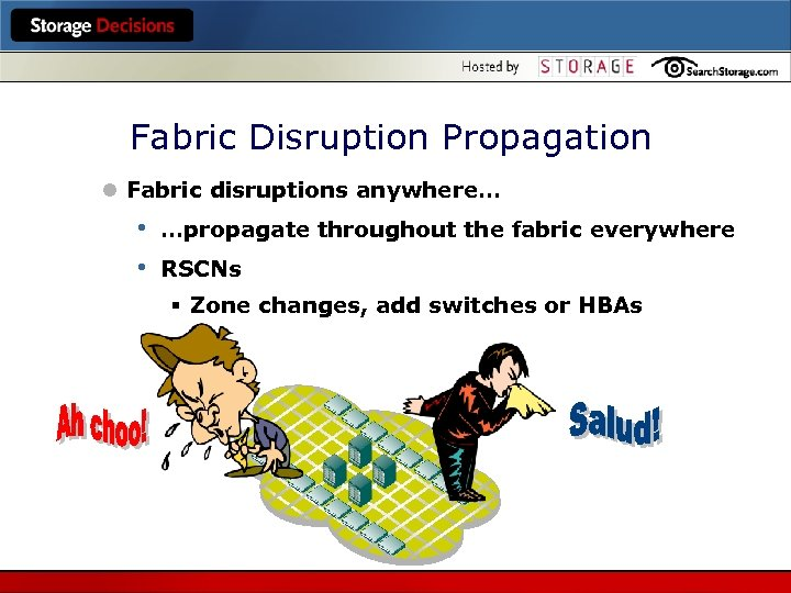 Fabric Disruption Propagation l Fabric disruptions anywhere… • • …propagate throughout the fabric everywhere