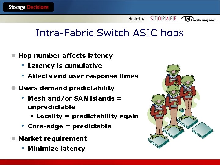 Intra-Fabric Switch ASIC hops l Hop number affects latency • • Latency is cumulative