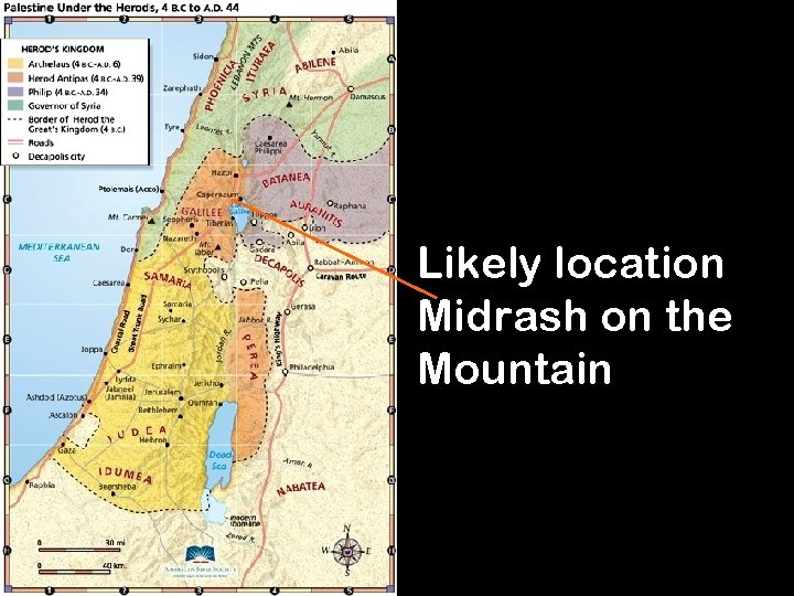 Likely location Midrash on the Mountain 13