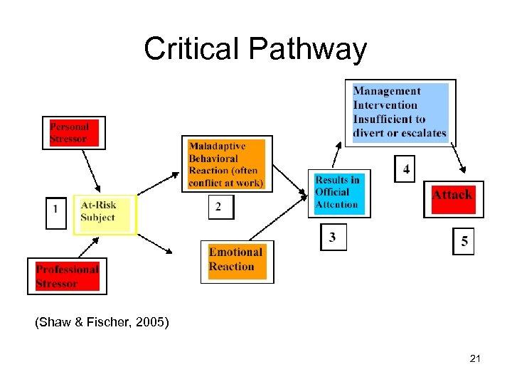 Critical Pathway (Shaw & Fischer, 2005) 21