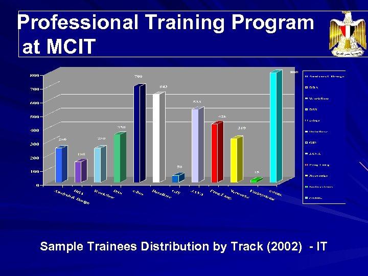 Professional Training Program Trainees' Distribution at MCIT Sample Trainees Distribution by Track (2002) -