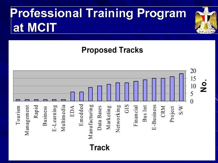 Professional Training Program Trainees' Distribution at MCIT