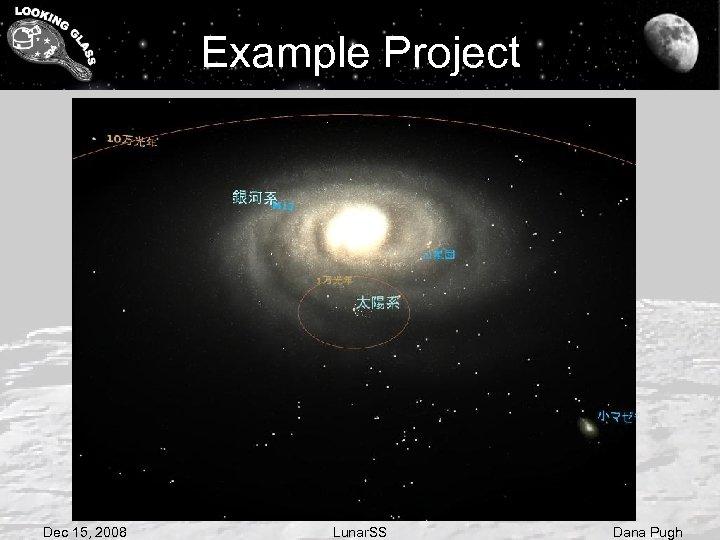 Example Project Dec 15, 2008 Lunar. SS Dana Pugh