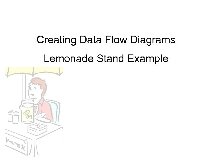 Creating Data Flow Diagrams Lemonade Stand Example