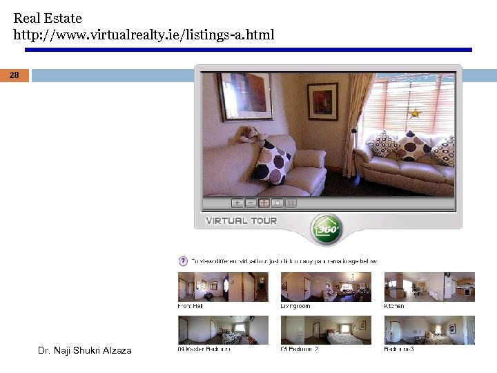 Real Estate http: //www. virtualrealty. ie/listings-a. html 28 Dr. Naji Shukri Alzaza