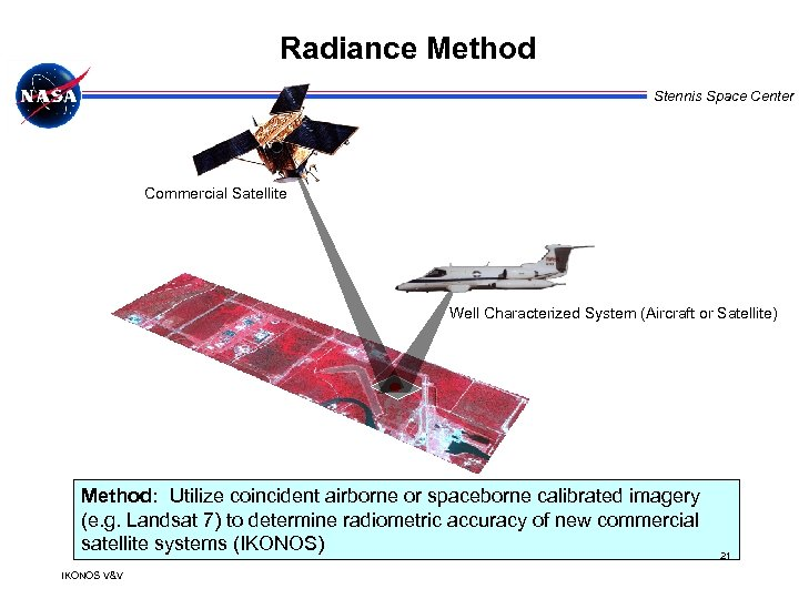 Radiance Method Stennis Space Center Commercial Satellite Well Characterized System (Aircraft or Satellite) Method: