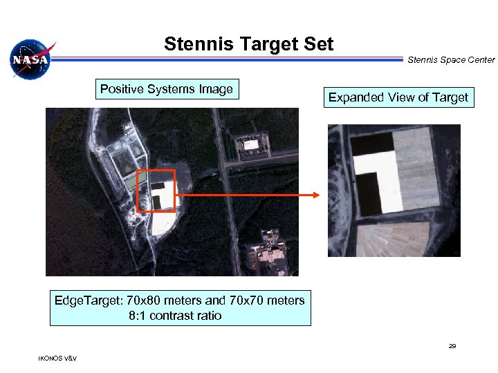 Stennis Target Stennis Space Center Positive Systems Image Expanded View of Target Edge. Target: