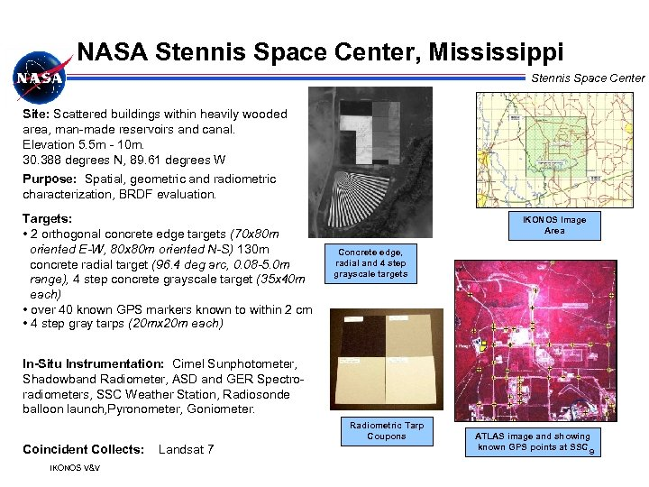 NASA Stennis Space Center, Mississippi Stennis Space Center Site: Scattered buildings within heavily wooded