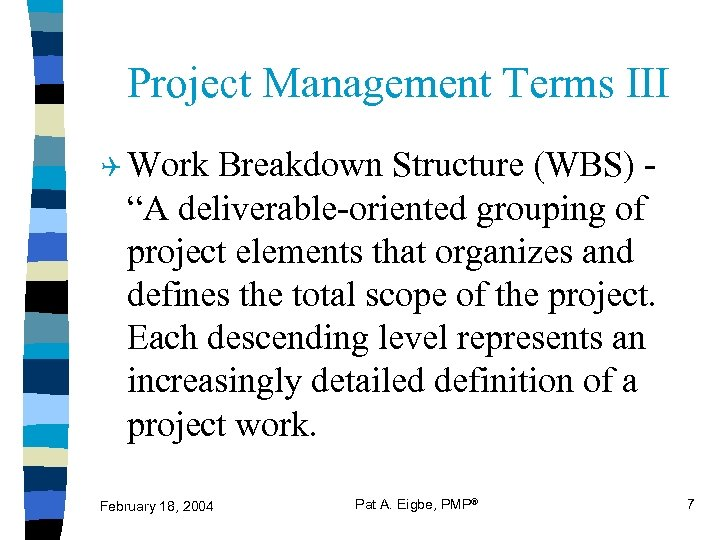 Project Management A Tool For ATO Success Presented