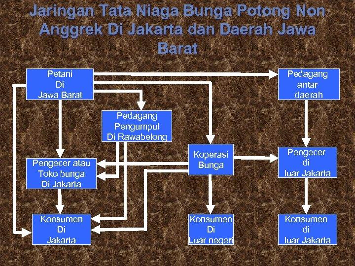 Jaringan Tata Niaga Bunga Potong Non Anggrek Di Jakarta dan Daerah Jawa Barat Petani