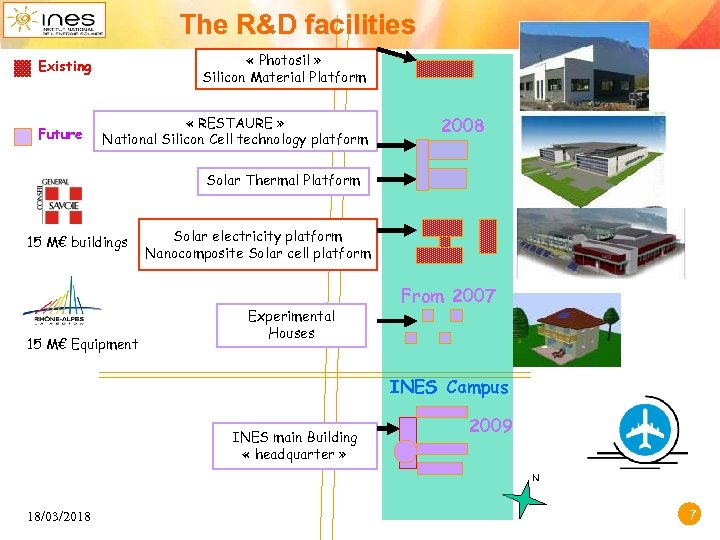 The R&D facilities « Photosil » Silicon Material Platform Existing Future « RESTAURE »