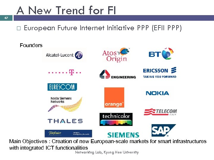 47 A New Trend for FI European Future Internet Initiative PPP (EFII PPP) Founders