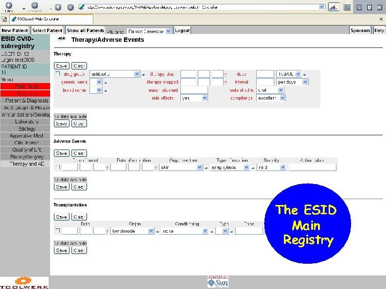 The ESID Main Registry