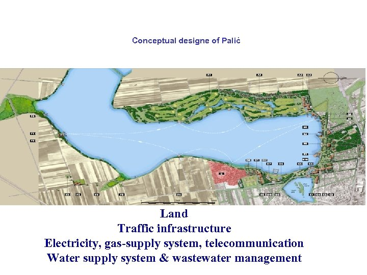 Conceptual designe of Palić Land Traffic infrastructure Electricity, gas-supply system, telecommunication Water supply system