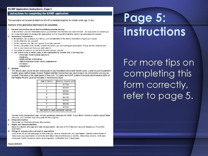Page 5: Instructions For more tips on completing this form correctly, refer to page