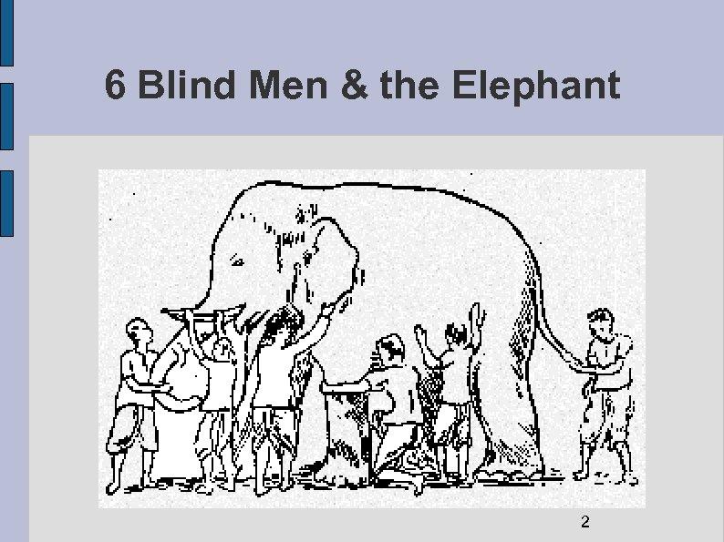 6 Blind Men & the Elephant 2