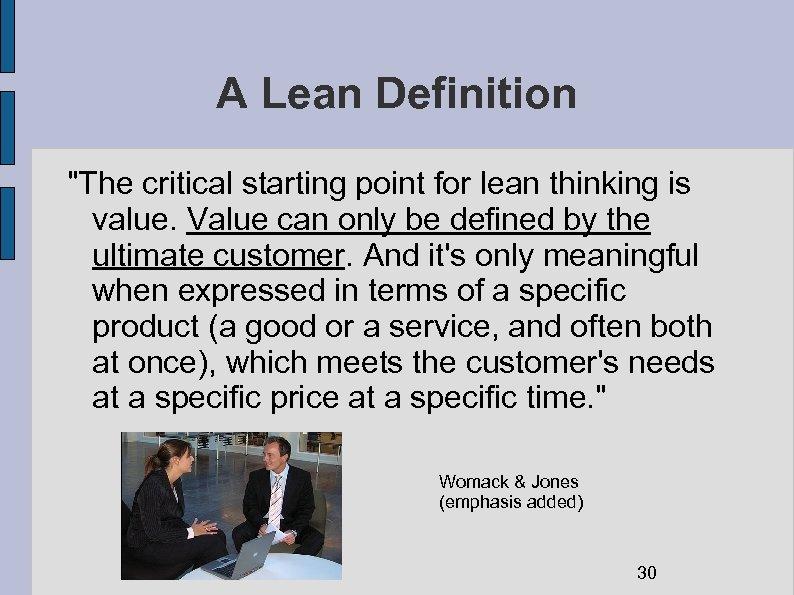 A Lean Definition