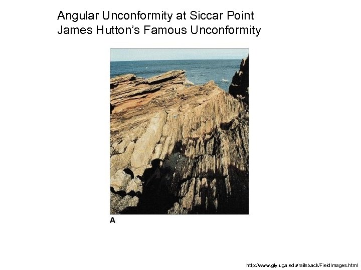 Angular Unconformity at Siccar Point James Hutton's Famous Unconformity http: //www. gly. uga. edu/railsback/Field.