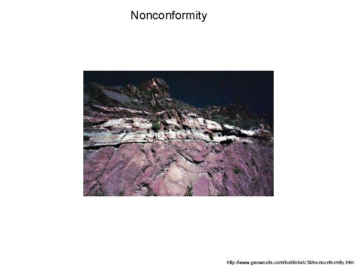 Nonconformity http: //www. geowords. com/lostlinks/c 19/nonconformity. htm