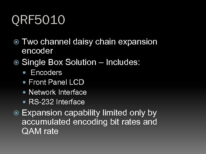 QRF 5010 Two channel daisy chain expansion encoder Single Box Solution – Includes: Encoders